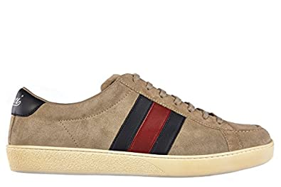 83bbeb22753 Gucci men  s shoes suede trainers sneakers softy beige US