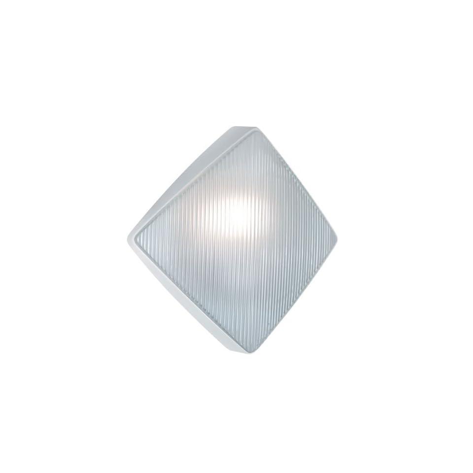 Besa Lighting 311053 FR 1X75W A19 Costaluz 3110 Series Wall Mount Lighting Fixture, White Finish