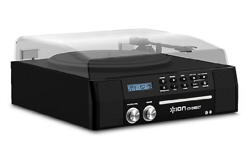 ION CD Direct USB Turntable with Built In CD Burner and Integrated Speakers