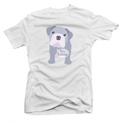 Beatles Bulldog Maglietta da donna UK 10-18 Bianco bianco