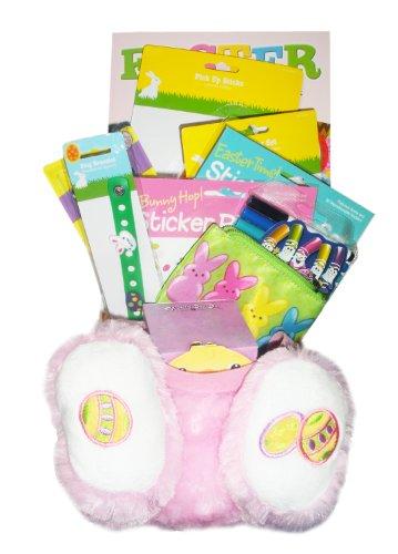 Girls (ages 5-9) Pink Plush Easter Basket!
