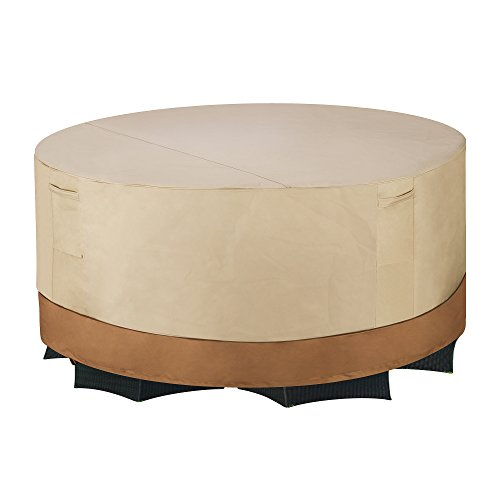 "Villacera High Quality Patio Table & Chair Cover 60"" Round Beige &"