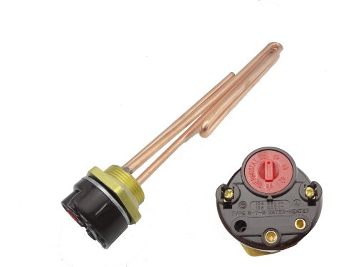 """Misol 3000W G1.25""""(Bsp,Dn32) 110V Electrical Immersion Element Booster, With Thermostat,Booster For Water Heater"""