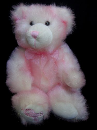"Build a Bear Hopeful Wishes Teddy 16"" Pink Plush Breast Cancer Awareness Bear - 1"