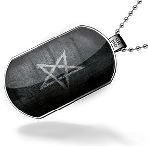 Amazon.com: Dogtag Pentagram 666, satan Dog tags necklace