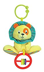 Winfun Caesar Lion Hand Rattle Squeaker Crinkle Sound, Multi Color