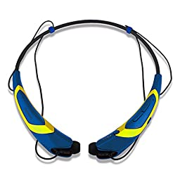 Rymemo 2016 Newest Match Color Universal Wireless Bluetooth 4.1 Music Earphones Stereo Headphones Sports/running Magnetic Headset Earbuds for cellphone, Yellow-Blue
