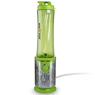 Blender 200Watt High-Speed portable Mixer with Travel Food Grade Bottle Cup - CE\ SGS Certification By WISE TIGER