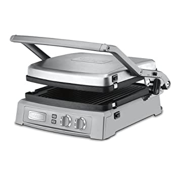The Cuisinart Griddler Deluxe takes grilling to new heights! It offers six enticing cooking options. The reversible grill and griddle plates, combined with dual-zone temperature control, give home chefs complete control. This grill is perfect for mak...