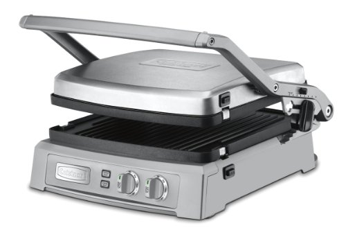 Cuisinart GR-150 Griddler Deluxe, Brushed Stainless (Cusinart Panini Maker compare prices)
