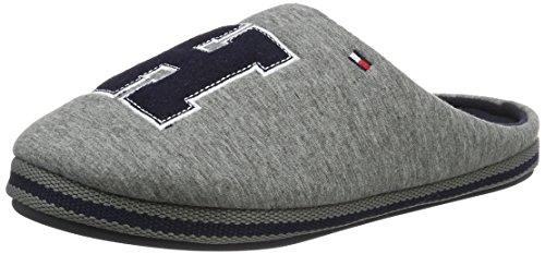 Tommy HilfigerC2285ORNWALL 1D - Pantofole con imbottitura leggera  Uomo , Grigio (Grau (Grey 030)), 45/46
