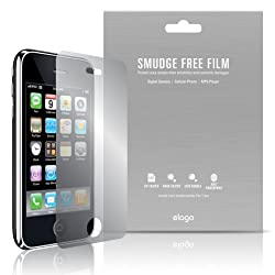 elago Smudge Free(Anti FingerPrint) Film Set for iPhone 3G/3GS + Microfiber Cleaner