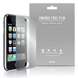elago Smudge Free(Anti FingerPrint) Film Set for iPhone 3G/3GS + Microfiber Cleaner