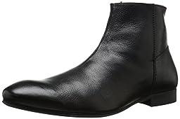 H By Hudson Men\'s Reville Calf Chelsea Boot, Black, 10 M US