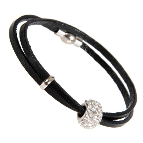 Stunning Womens Urban Jewelry Leather Cubic Zirconia