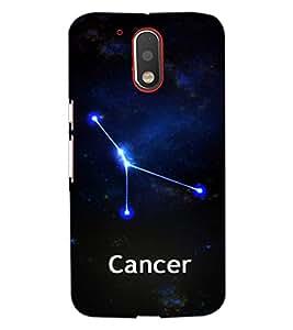 PrintDhaba Zodiac Cancer D-3251 Back Case Cover for MOTOROLA MOTO G4 (Multi-Coloured)