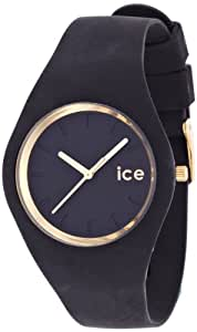 ICE-Watch - Montre femme - Quartz Analogique - ICE Glam - Black - Unisex - Cadran Noir - Bracelet Silicone Noir - ICE.GL.BK.U.S.13
