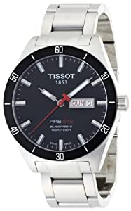 Tissot Men's T0444302105100 PRS 516 Black Day Date Dial Watch