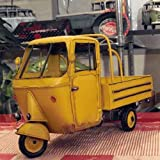 【ブリキのおもちゃ】黄色いオート三輪トラック