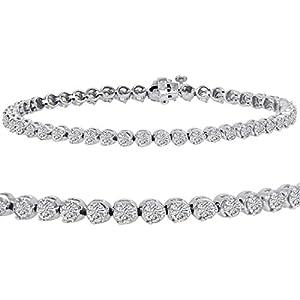 AGS Certified 5ct tw Diamond Tennis Bracelet in 14K White Gold 7 1/2 inch