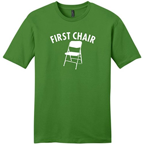 First Chair Humorous Band Young Mens T-Shirt Large Kiwi Green