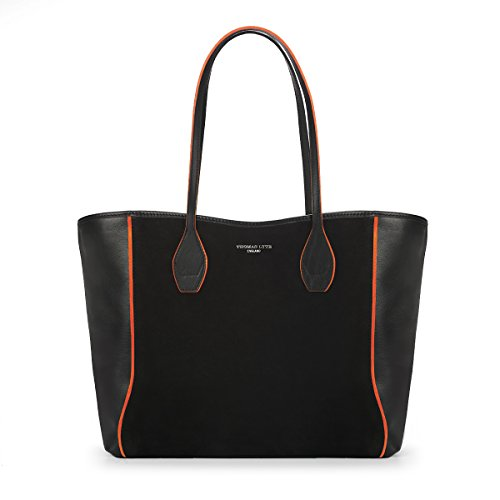 olivia-tote-black-bridle-leather-with-tangerine-trim