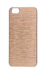 Generic Motomo Backcover Back Case Cover Holder Pouch Hard Case for Apple iPhone 5 5S/5G (Golden)