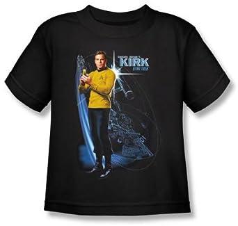 Star Trek GALACTIC KIRK Kids Size Black Youth T-shirt, Youth Small (6-8)