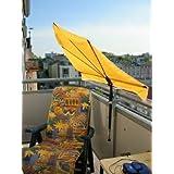 STABIELO - BALKON - Stuhl-Sonnenschirm Holly'mat® - Fächerschirm GOLDGELB - mit Holly ® 5 fach im RADIUS verstellbare...