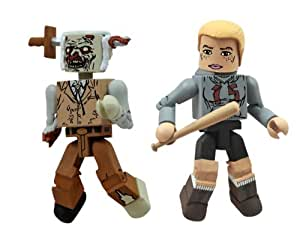 Walking Dead Amy and Zombie Minimates (Pack of 2)