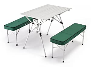 Closeout Price Outdoor Or Indoor Portable Folding Picnic Table Bench Set With Custom Suitcase Style Lightweight Aluminum Construction And Table Cover from World Outdoor Products