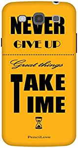 The Racoon Grip Never Give up hard plastic printed back case / cover for Samsung Galaxy Mega 5.8