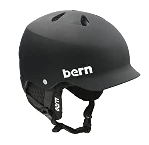 Bern Watts EPS Matte Helmet with Black Knit (Black, Medium/Large)