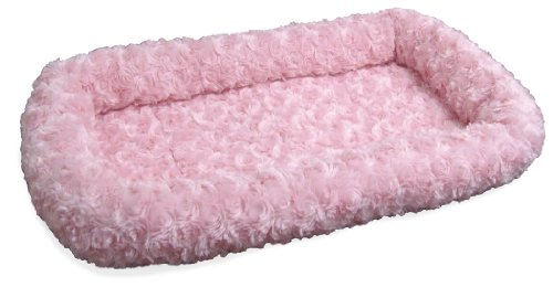 Nap Pet Bed Ultra Plush Bolster Pet Bed, Strawberry, 18-Inch By 24-Inch