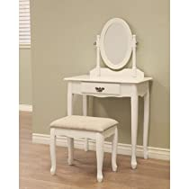Hot Sale Frenchi Home Furnishing 3-Piece Vanity Set, White