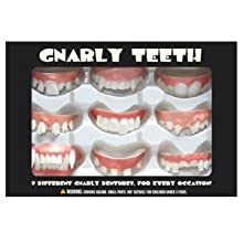 [Best price] Novelty & Gag Toys - Accoutrements Gnarly Teeth, Set of 9 - toys-games