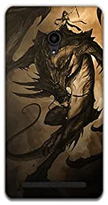 The Racoon Grip dragon rider hard plastic printed back case / cover for Asus Zenfone 6