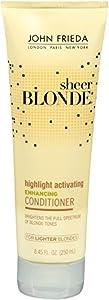 John Frieda Sheer Blonde Highlight Activating Enhancing Conditioner (for Lighter Blondes), 8.45 Ounces (Pack of 2)