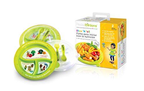 grande-parte-piastra-controlli-bambini-show-n-tell-nutrition-start-diritto-kit-da-precise-porzioni-s