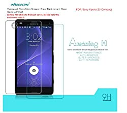 Nillkin Amazing Tempered Glass For Sony Xperia Z3 Compact Premium Screen Protector Guard [Anti Burst] with Back Film