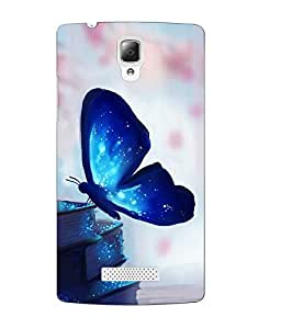 Case Cover Butterfly Printed Colorful Soft Back Cover For Lenovo A2010