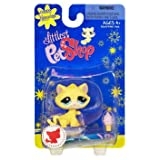 Littlest Pet Shop Happiest Single Figure Yellow Cat With Ice Cream Cone