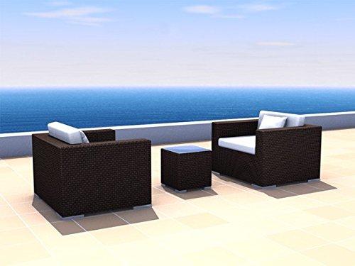 gartenm bel rattan lounge espace angebots set 2 2 sitze polyrattan dunkelbraun kaufen. Black Bedroom Furniture Sets. Home Design Ideas
