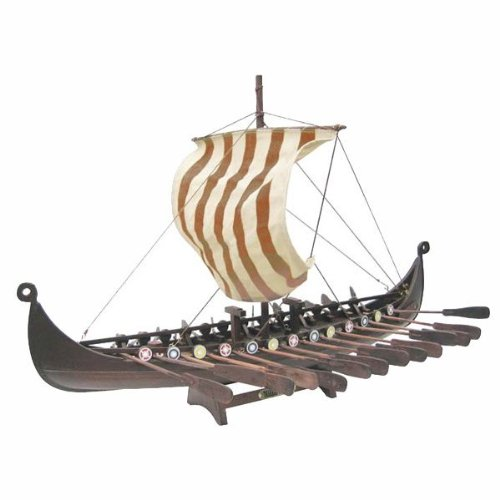Nordic Dragon with oars and LEINENSEGEL- CM