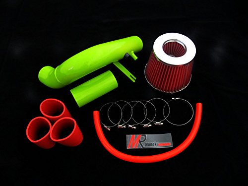 00 01 02 03 04 05 Dodge Neon Base/Highline/Se/Es/Acr/Sxt/ R/T 2.0L Green Piping Cold Air Intake System Kit With Red Filter