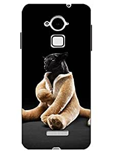 Make My Print Cartoon Printed Black Hard Back Cover For CoolPad Note 3