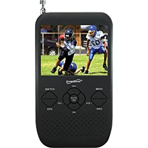 "Supersonic SC-335 3.5"" Portable TFT LCD TV with FM Radio and SD Card Slot"