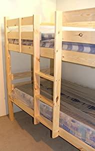 Bunkbed with trundle guest bed - 3ft Single Bunk Bed with underbed - VERY STRONG BUNK! - Contract Use - has TWO centre rails for added support, heavy duty use