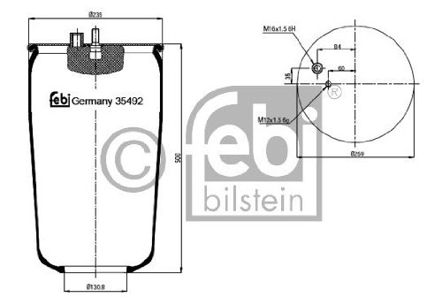 Febi Bilstein 35492 Boot, air suspension