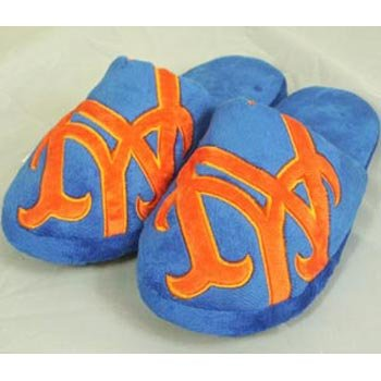 Cheap New York Mets MLB Big Logo Hard Sole Slide Slippers (B006KYQNTW)